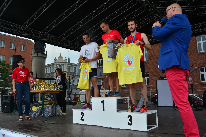 Najlepsi zawodnicy w kategorii Open mężczyzn - Adam Konieczny (1), Krzysztof Szymanowski (2) i Dawid Jagła (3)